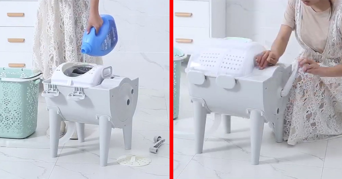 This Tiny Portable Washer and Dryer Combo Lets You Clean Your Clothes Anywhere