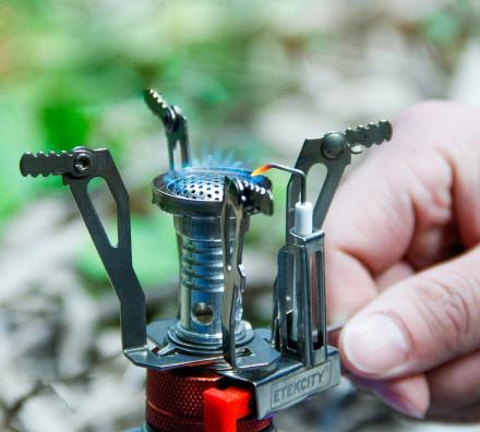 Etekcity Ultra Portable Camping Stove Connects Right To a Propane Tank