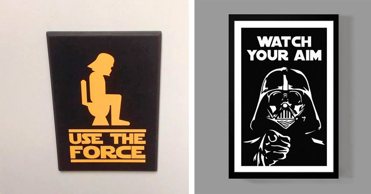This Use The Force Toilet Sign Belongs In Every Star Wars Geeks Bathroom