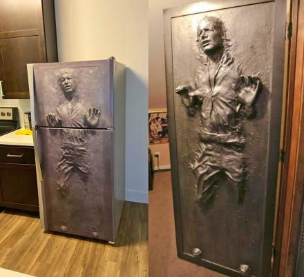 You Can Now Get a Wrap That Turns Your Fridge Or Door Into Han Solo Stuck In Carbonite