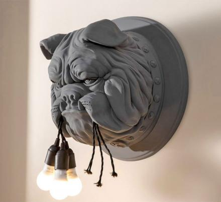 This Wall Sconce Looks Like A Bulldog Ate Your Lights
