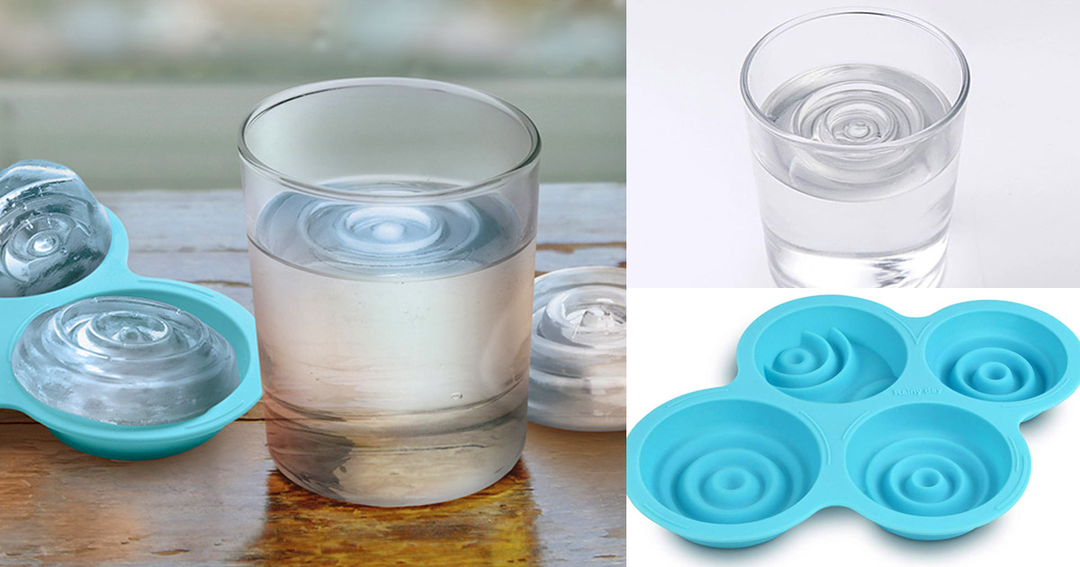 This Water Ripple Ice Cube Tray Makes It Look Like You