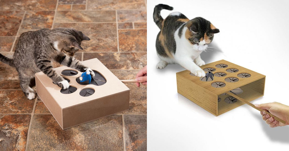 This Whack-A-Mouse Cat Toy Will Keep Your Kitties Entertained For Hours