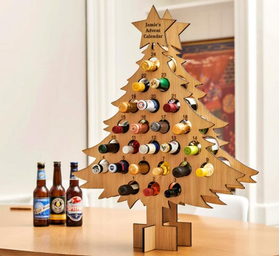 Christmas Countdown Calendar.This Wine Bottle Advent Calendar Lets You Countdown To Christmas With Booze
