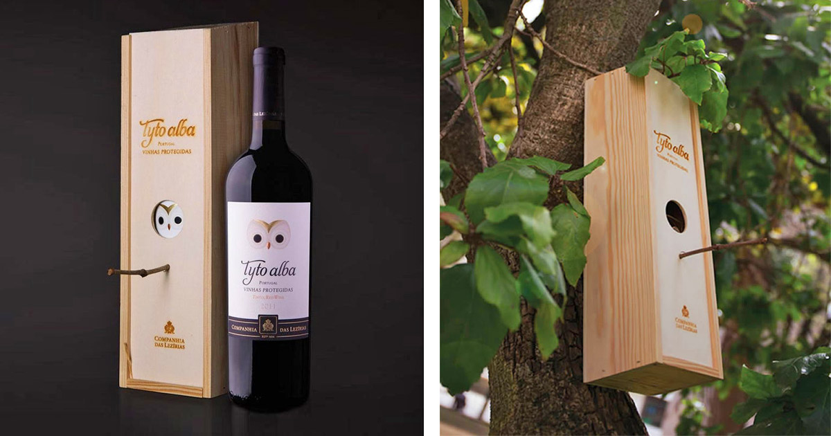 This Wine Bottle Comes With a Wine Box That Turns Into a Bird House When You