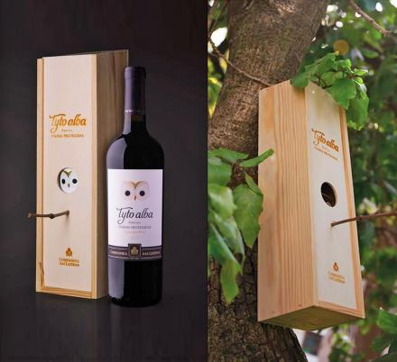 This Wine Bottle Comes With a Wine Box That Turns Into a Bird House When You're Done With It