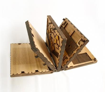 This Wooden Book Makes You Solve a Puzzle To Turn Each Page