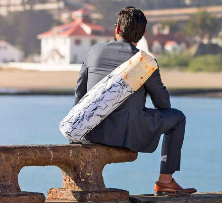 This Yoga Mat Holder Disguises Your Mat as a Giant Burrito