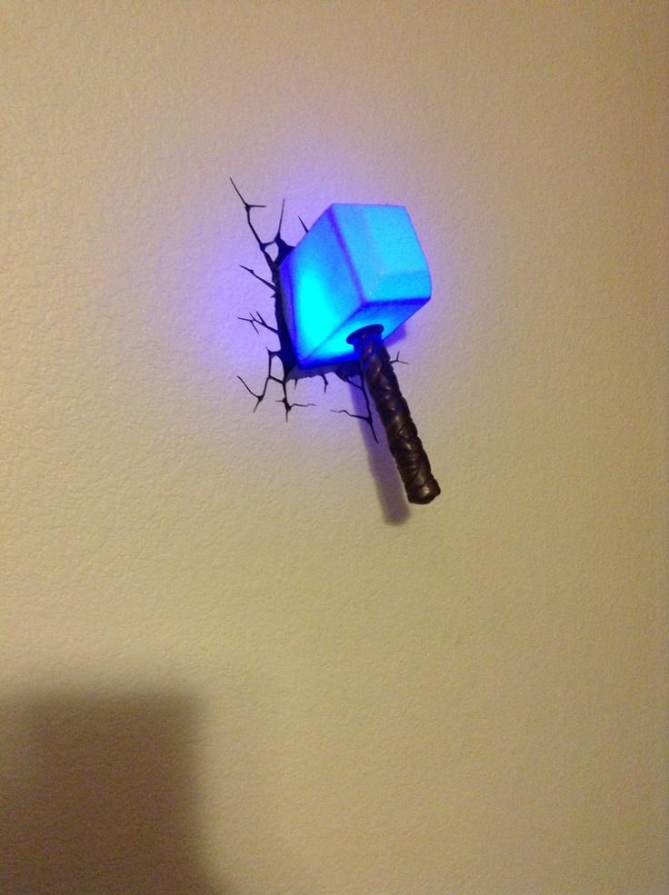 thor 39 s hammer nightlight. Black Bedroom Furniture Sets. Home Design Ideas