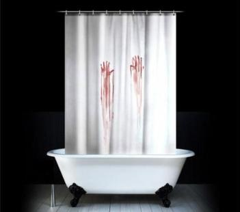 Bloody Hand Prints Shower Curtain