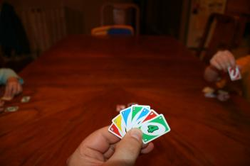 Miniature Uno Cards