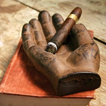 Cast Iron Hand Shaped Cigar Tray