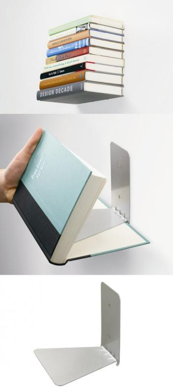 Concealed Floating Bookshelf
