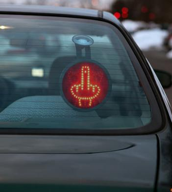 Middle Finger Car Message LED Display