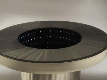 Infinity Tunnel Mirror Dining Table