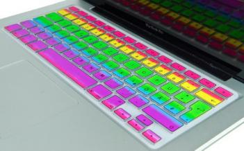 Rainbow MacBook Keyboard Cover