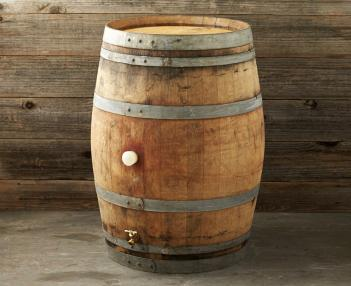 Vintage Wine Rain Barrel