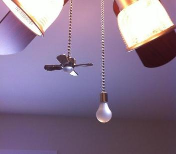 Fan and Light Shaped Pull Chains