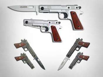 Gun Shaped Folding Knife