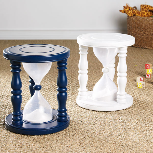 Time Out Sand Timer Stool 1
