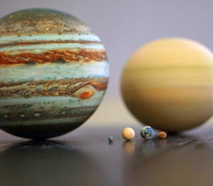 Tiny Perfectly Scaled Replicas Of The Planets In Our Solar System