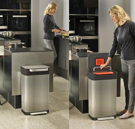 Titan Smart Trash Bin Lets You Easily Compact Your Garbage