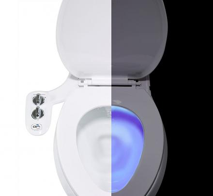 toilet bidet attachment and toilet night light combo. Black Bedroom Furniture Sets. Home Design Ideas