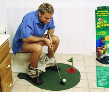 Toilet Putting Green