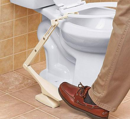This Toilet Seat Lifting Pedal Should Probably Come Standard On Every New Toilet