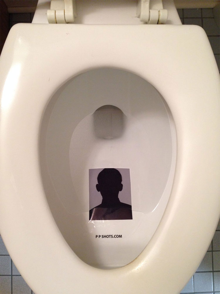 PP Shots Toilet Target Adhesive Photo Protector