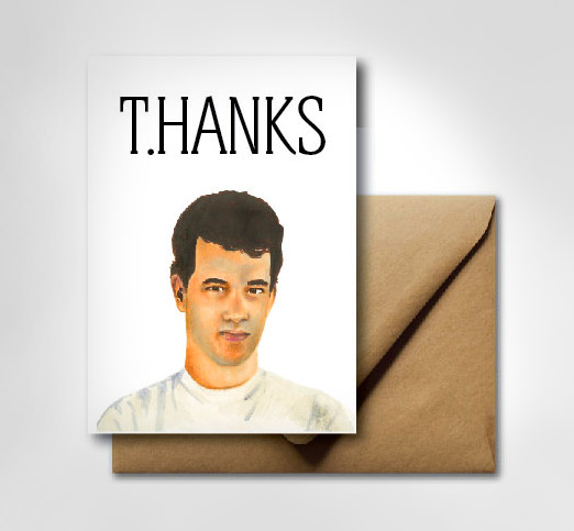 tom hanks t hanks thank you card