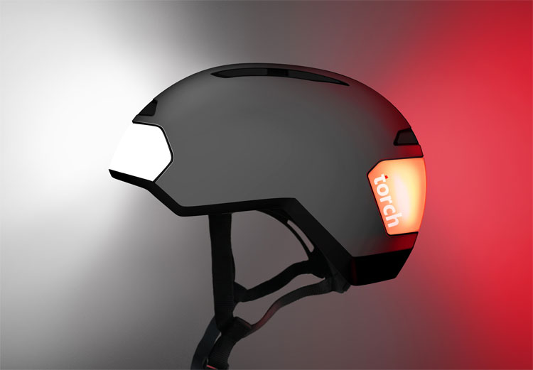 Torch Led Lighted Bicycle Helmet
