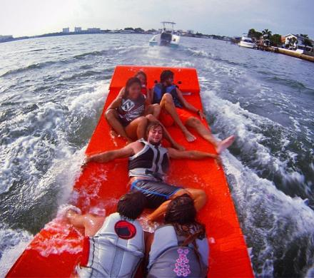 TowBoggan: A 6 Person Towable Water Mat