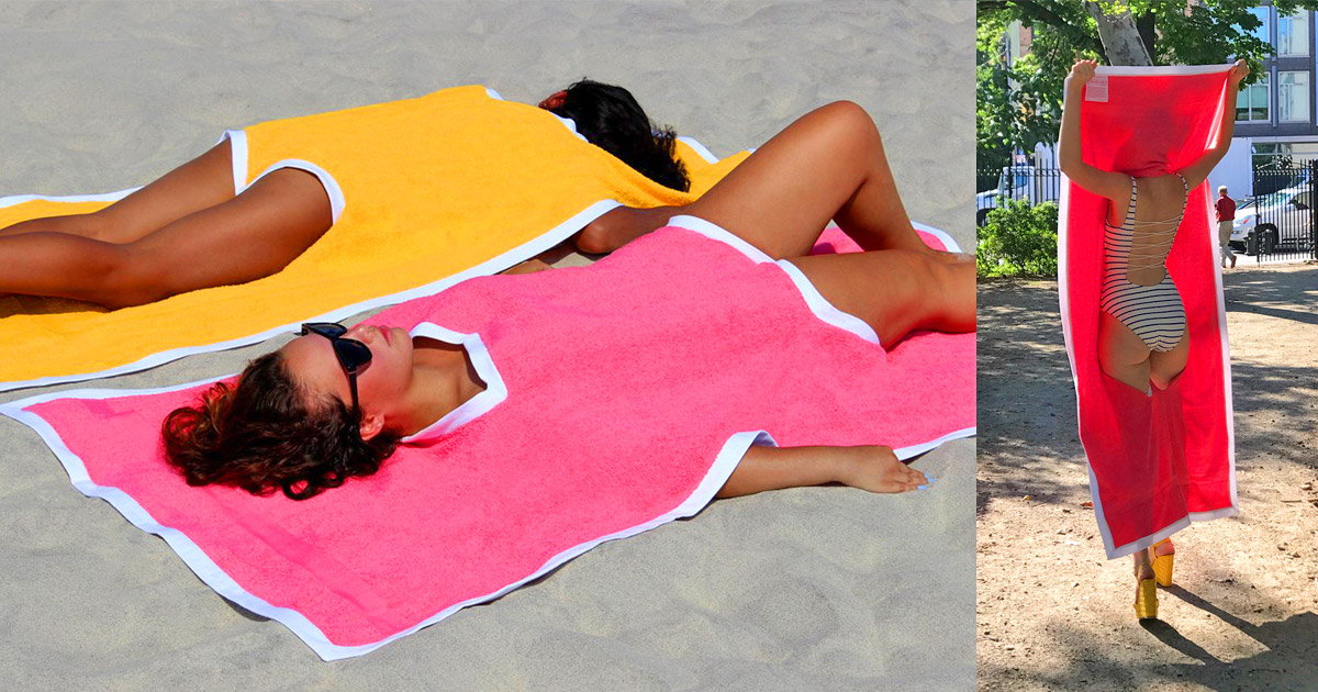 Towelkini Lets You Wear Your Towel To The Beach