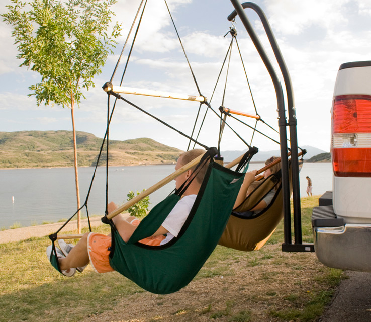 ... Hammock Chair Set Enlarge Image & Hammaka: A Trailer Hitch Dual Hammock Chair Set