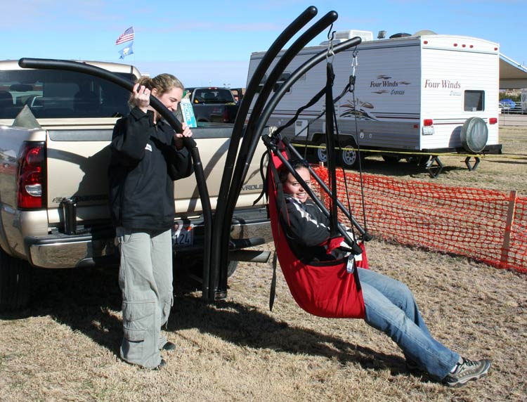 Trailer Hitch Hammock Chair Stand 2