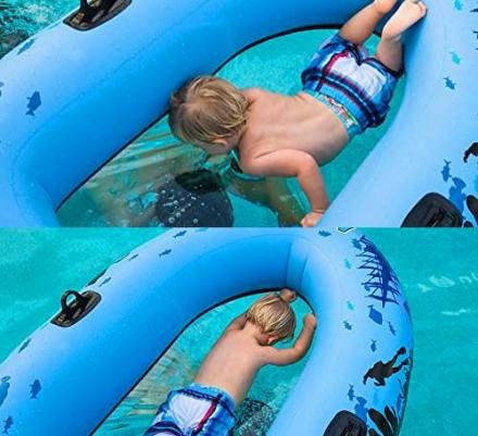 Transparent Bottom Inflatable Water Raft Gives Great Views Of Underwater Life