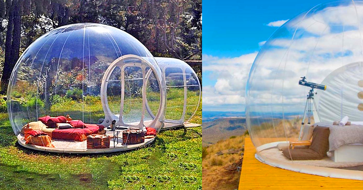 Transparent Bubble Tent Lets You View The Stars While Falling Asleep