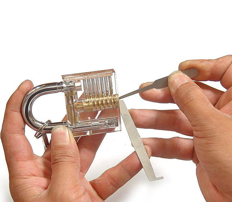 Transparent Padlock To Help You Learn To Pick Locks