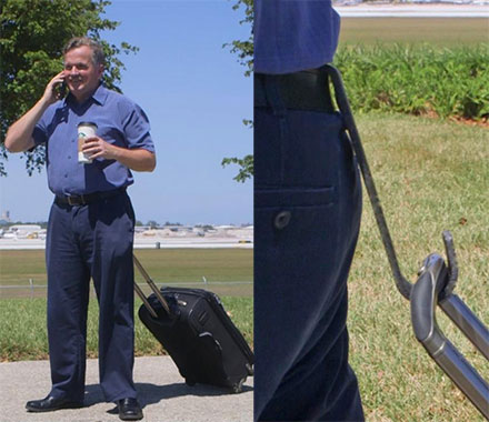 Travel Belt Hitch Lets You Drag Your Luggage Behind You