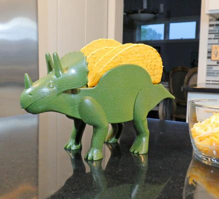 TriceraTaco: A Dinosaur Shaped Taco Holder