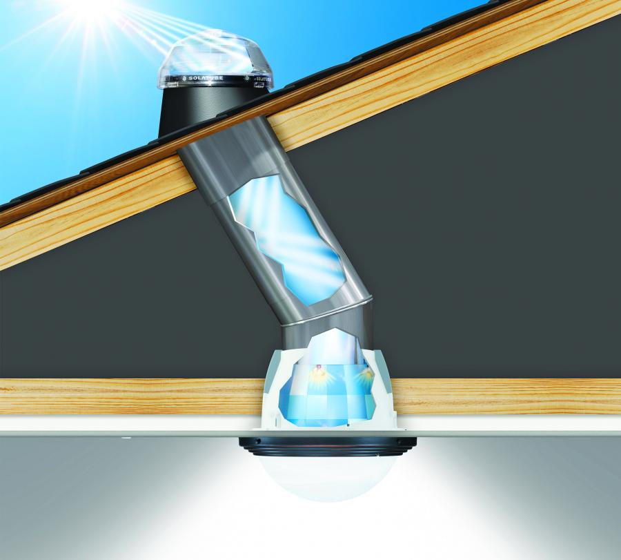 Tubular Daylighting Solar Window Light Uses Zero Electricity