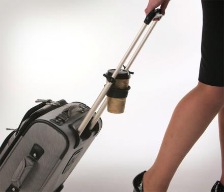 Tugo Is A Drink Holder For Your Luggage
