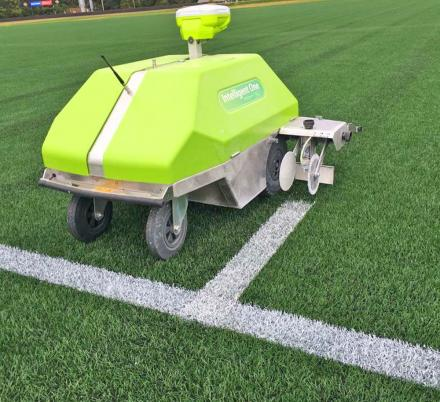 Turf Tank Is a Robot That Automatically Marks The Lines On Sports Fields