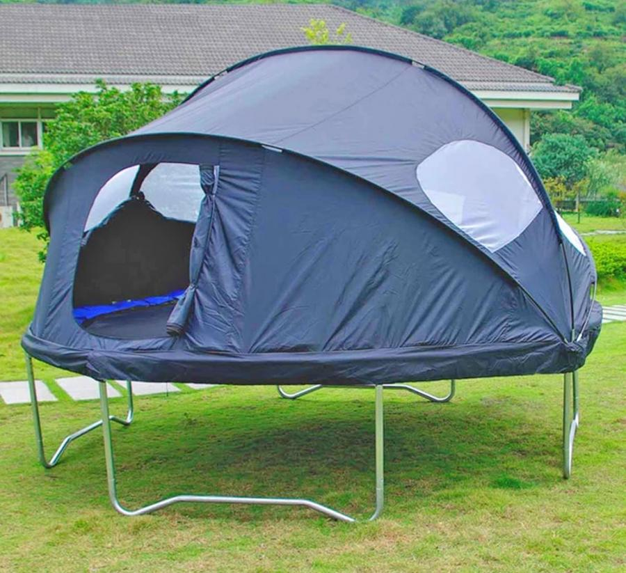 There S A Trampoline Tent Cover That Lets Your Kids Camp