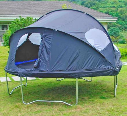 There's a Trampoline Tent Cover That Lets Your Kids Camp Out In The Backyard