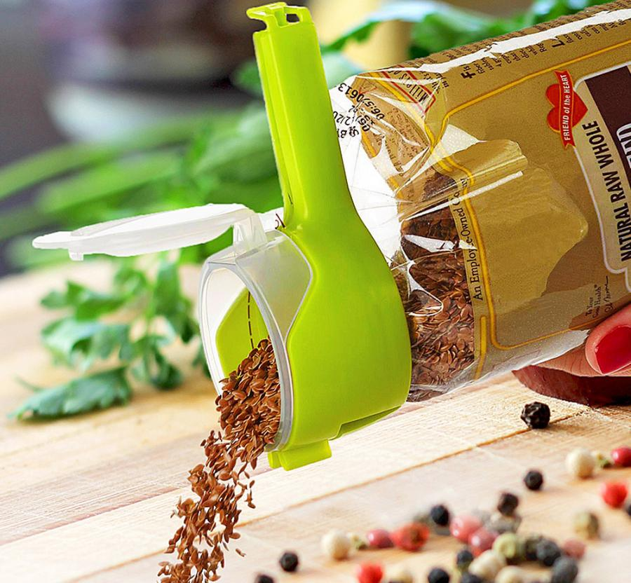Twixit Seal and Pour Bag Clip Lets You Seal Any Bag and Give It a Lid
