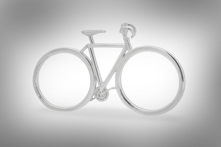 Two Fingered Bicycle Ring