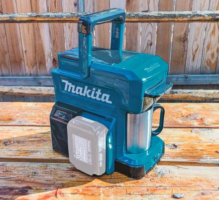 Ultra-Rugged Job Site Coffee Maker Runs On Power Tool Batteries