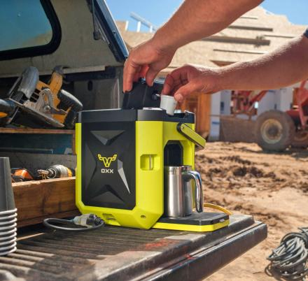This Ultra-Rugged Outdoor Coffee Maker Is Perfect For Job Sites or Onboard Boats
